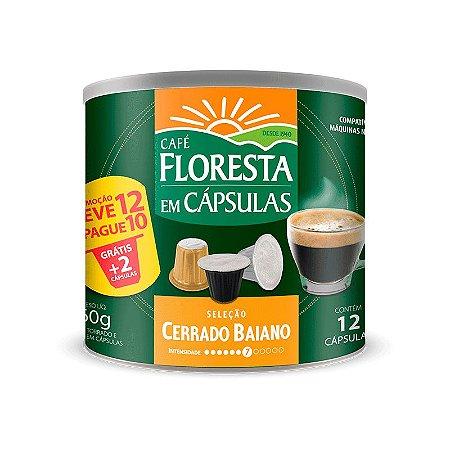Cápsulas Café Floresta Origens Cerrado Baiano 12 un (compatível com máquinas Nespresso)