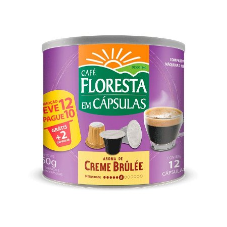 Cápsulas Café Floresta Aromas Creme Brullée  12 un (compatível com máquinas Nespresso)