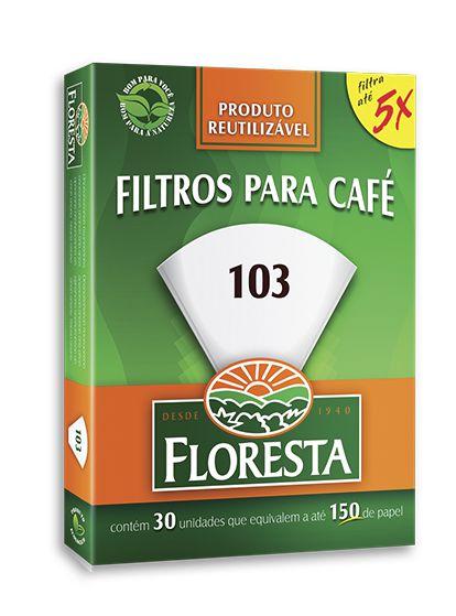 Filtro Floresta para Café 103  Reutilizável 30 un