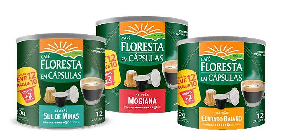 Kit 3 Latas Cápsulas Floresta Origens (compatível com máquinas Nespresso)