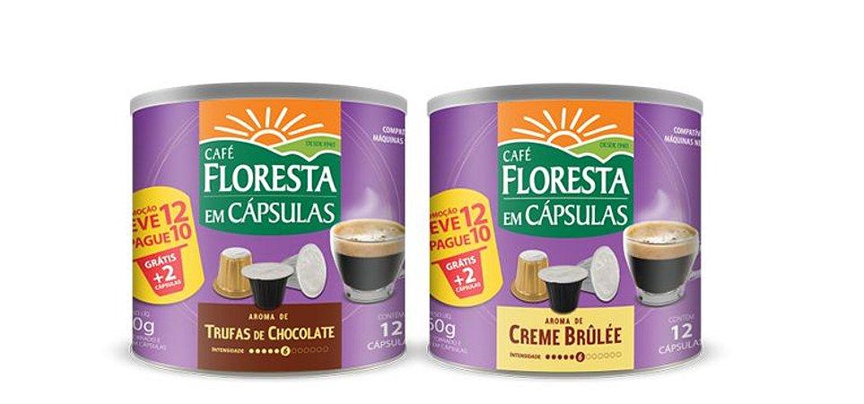 Kit 2 Latas Cápsulas Café Floresta Aromas (compatível com máquinas Nespresso)