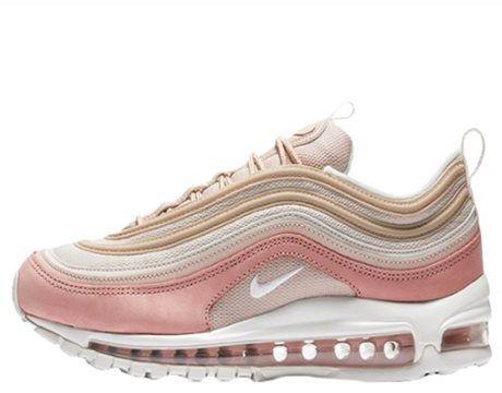air max 97 rosa e branco