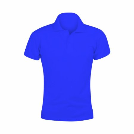 Baby Look Polo Azul Royal c/ Bordado no Peito