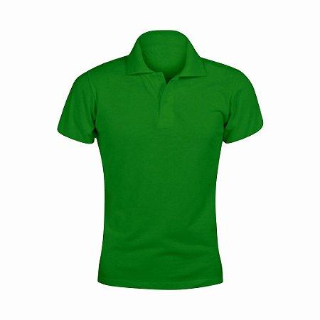 Baby Look Polo Verde c/ Bordado no Peito