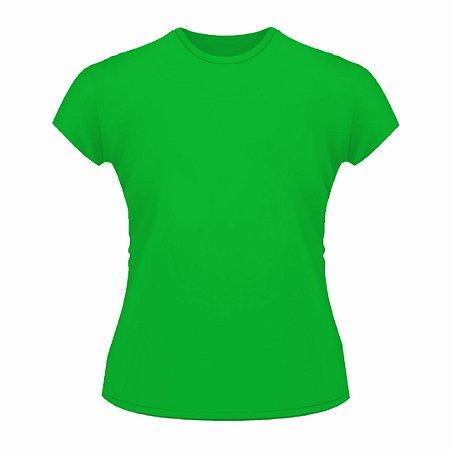 Baby Look Verde c/ Bordado no Peito