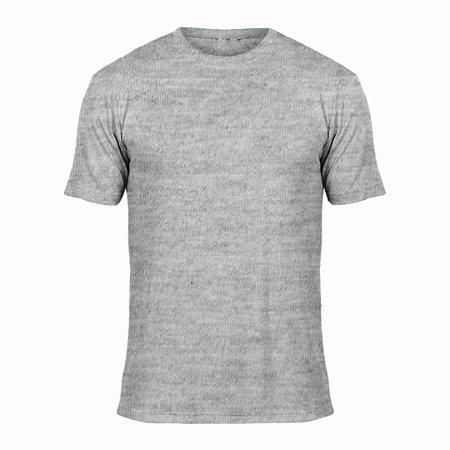 Camisa Cinza Mescla c/ Bordado no Peito