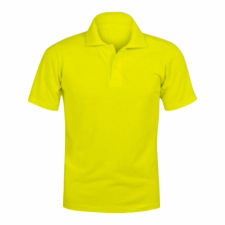 Camisa Polo Amarela c/ Bordado no Peito
