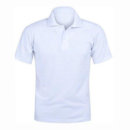 Camisa Polo Branca c/ Bordado no Peito