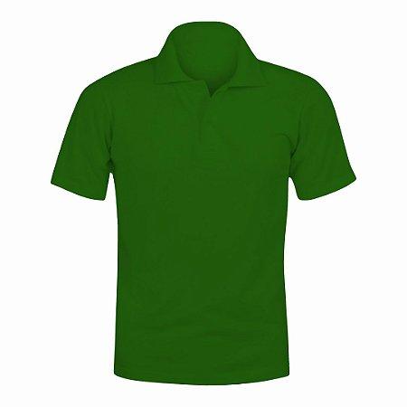 Camisa Polo Verde c/ Bordado no Peito