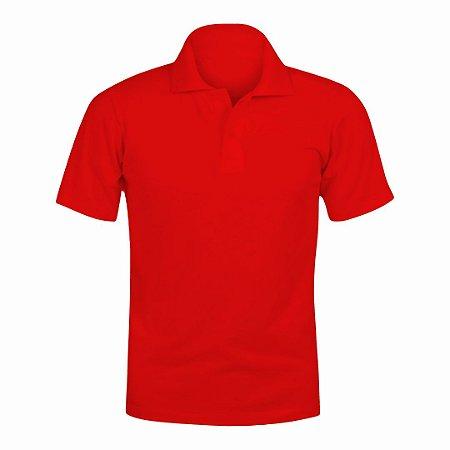 Camisa Polo Vermelha c/ Bordado no Peito