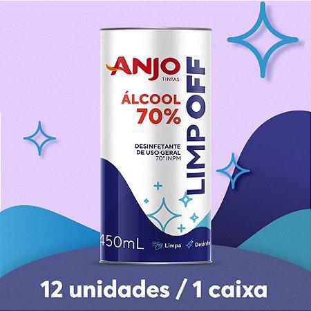 ÁLCOOL LÍQUIDO 70% 450ML (1 caixa/12 unidades)
