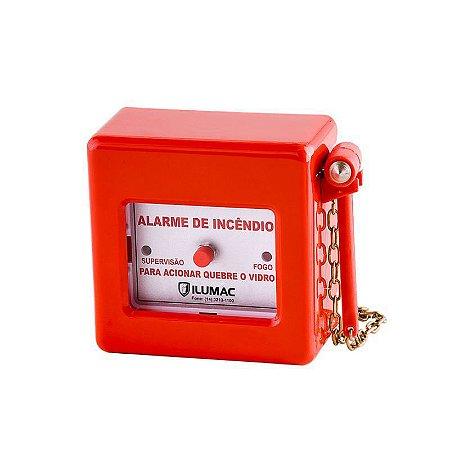 Acionador Manual Quebra Vidro Alarme de Incêndio