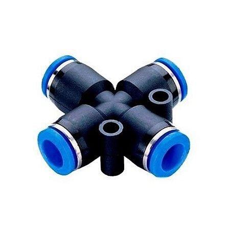 União Tubo Cruzeta Engate Rápido Pneumático de 4 à 16mm