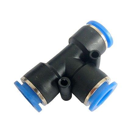 Tee União Tubo Engate Rápido Pneumático de 4 à 16mm