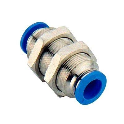Conexão União para Painel Tubo Engate Rápido Pneumático de 4 à 16mm
