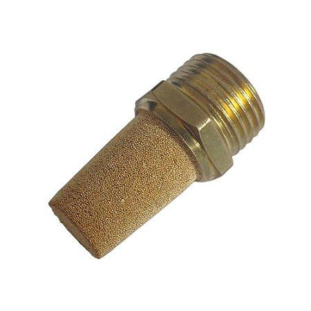 """Silenciador Pneumático Bronze Cônico 1/8"""" à 1/2"""""""