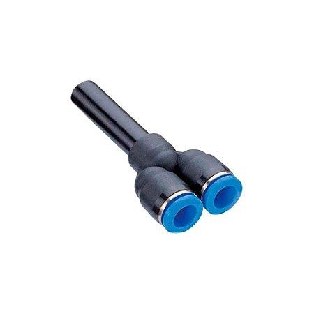 Y de Redução Tubo Engate Rápido Pneumático de 4 à 16mm
