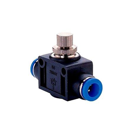 Válvula Pneumática Controle de Fluxo Tubo x Tubo de 4 à 16mm