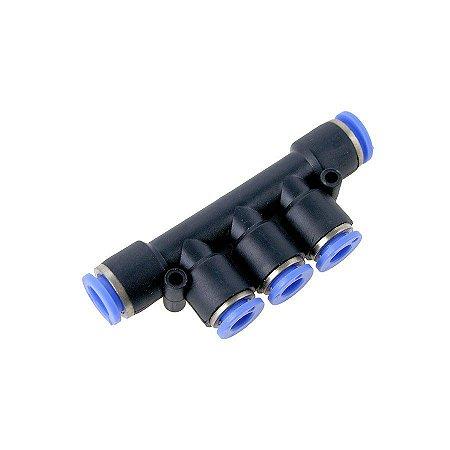 Conexão Pneumática Distribuidor Múltiplo Tubo