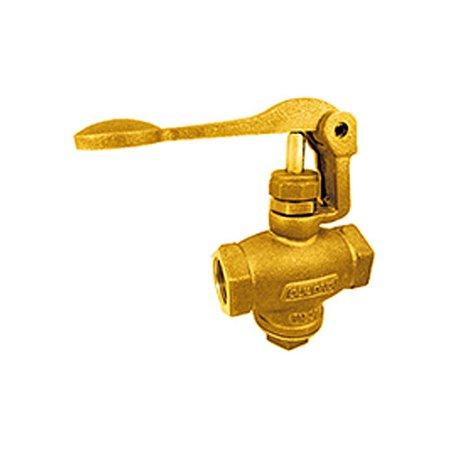 "Válvula Globo Pedal Bronze de 1/2"" e 3/4"""