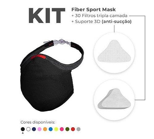 Kit Mascara Fiber Knit Sport Z754-0998 Preto