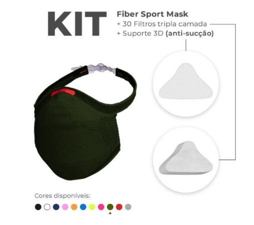 Kit Mascara Fiber Knit Sport Z754-975 V. Militar