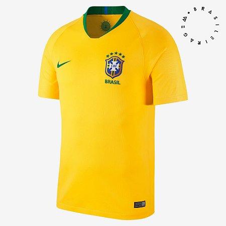 Camisa Nike Brasil Cbf I 2018/19 Torcedor 893856-749