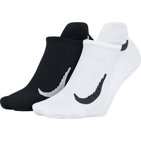 Meia Nike Kit 2 Pares Multiplier No Show Sx7554-914