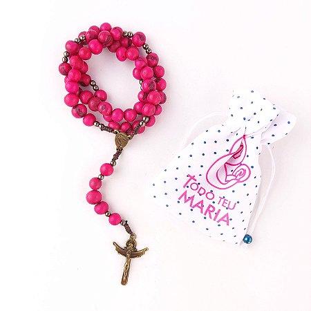 Terço Nossa Senhora do Rosário Semente de Açai