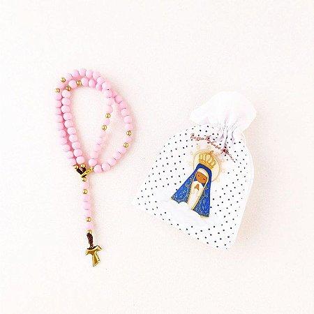 Terço de Pulso Franciscano Rosa