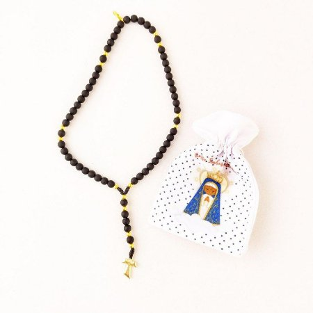 Terço de Pulso Franciscano Preto