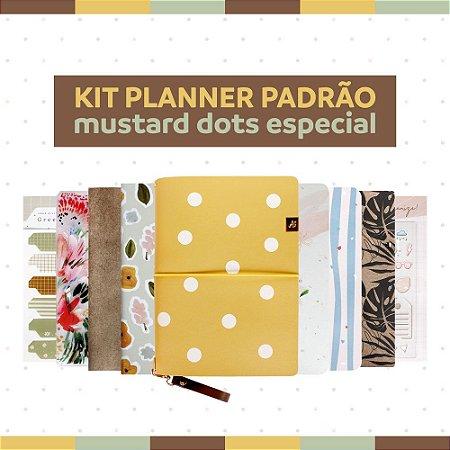 Kit Planner Padrão Mustard Dots - Especial