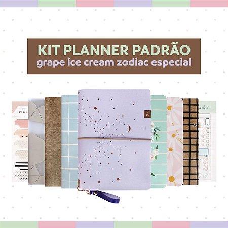 Kit Planner Padrão Grape Ice Cream Zodiac - Especial