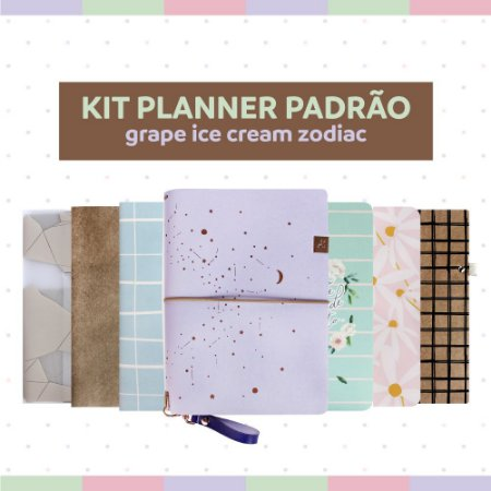 Kit Planner Padrão Grape Ice Cream Zodiac