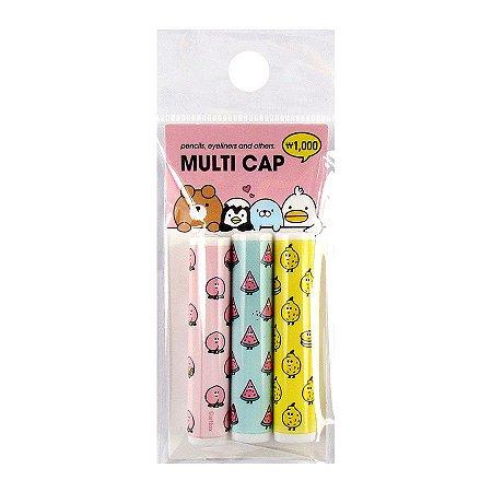 Kit Com 3 Capas para Lápis Multi Cap Artbox Frutas