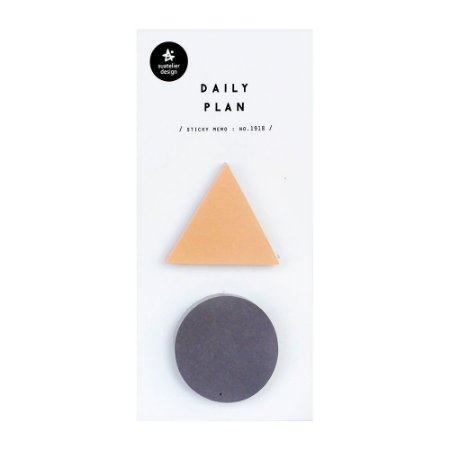Post-it Stick Daily Plan Sticky Memo Triângulo Círculo - Suatelier