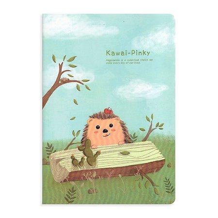 Caderno Brochura Porco Espinho Azul Tronco