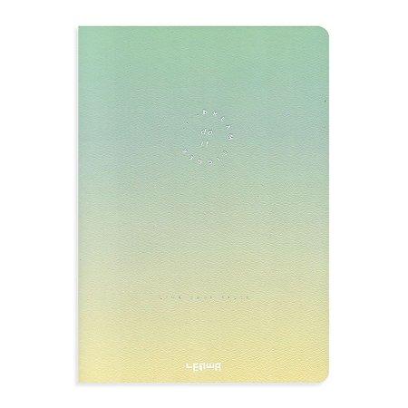 Caderno Brochura Degradê Dream Bigger Verde e Amarelo
