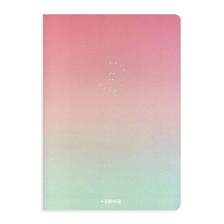 Caderno Brochura Degradê Dream Bigger Rosa e Verde