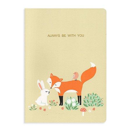 Caderno Brochura Always Be With You Raposa Amarelo