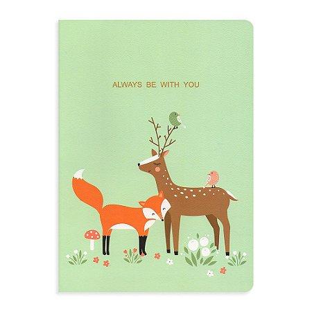 Caderno Brochura Always Be With You Rena Verde