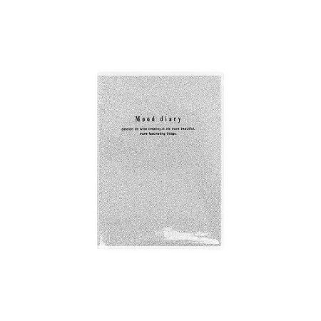 Mini Caderneta Brochura Pautada Glitter Prata