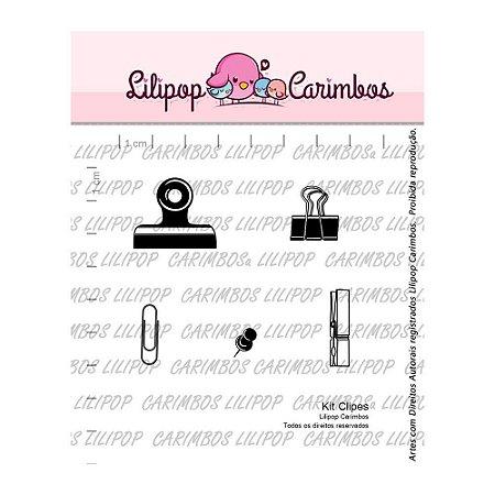 Kit de Carimbos Clipes - Lilipop
