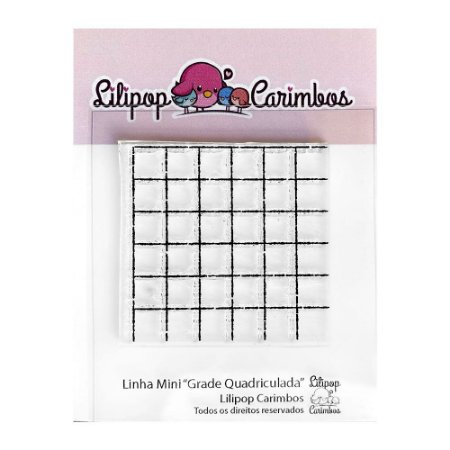 Carimbo Mini Grade Quadriculada - Lilipop