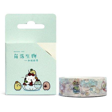 Fita Decorativa Washi Tape - Sumikko Gurashi Sorvete