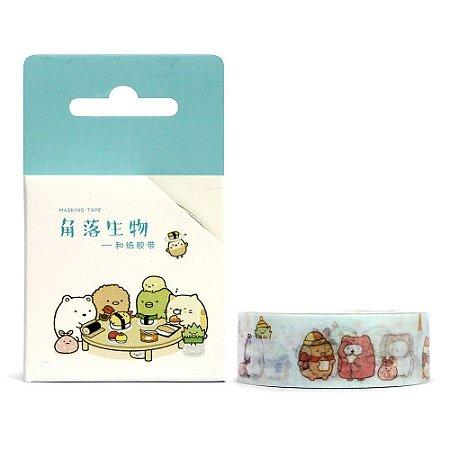 Fita Decorativa Washi Tape - Sumikko Gurashi Mesa
