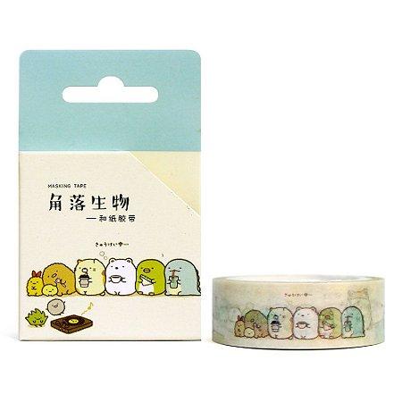 Fita Decorativa Washi Tape - Sumikko Gurashi Chá