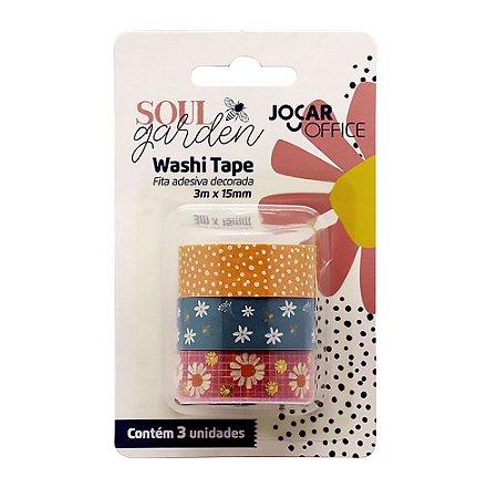 Kit de 3 Washi Tapes Soul Garden Floral