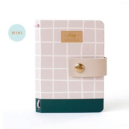Mini Capa Dura Sweet Rosé (Para 4 Mini Blocos) Para Mini Planner A.Craft