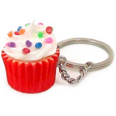 Chaveiro - Cupcake Confete Colorido